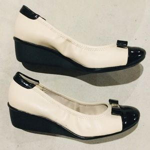 Anne Klein Sport Shoes - {Anne Klein Sport}  Cap-Toe Ballet Wedges